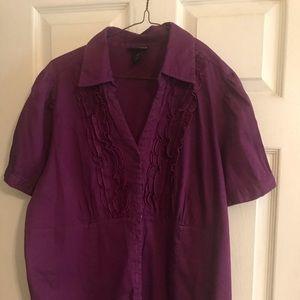 Purple Ruffled Shirt